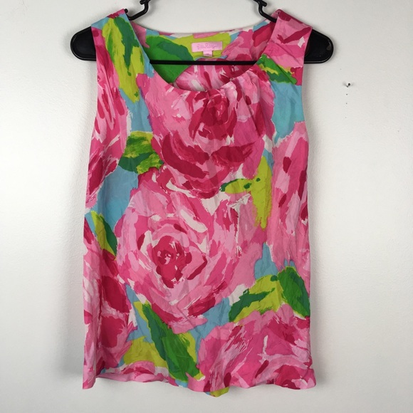 Lilly Pulitzer Tops - Lily Pulitzer rose first impressions tank top XS